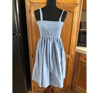Liz Lange Maternity Chambray Denim Dress Large